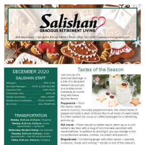 December Salishan Gracious Retirement Living newsletter