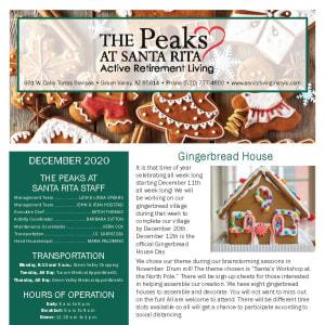 December The Peaks at Santa Rita newsletter