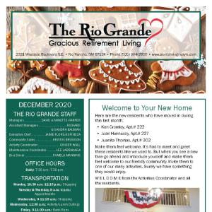 December The Rio Grande Gracious Retirement Living newsletter
