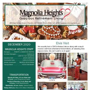 December Magnolia Heights Gracious Retirement Living newsletter