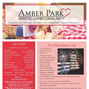 July Amber Park Newsletter