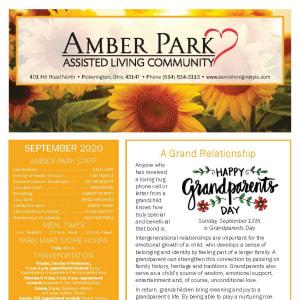 September newsletter at Amber Park in Pickerington, Ohio