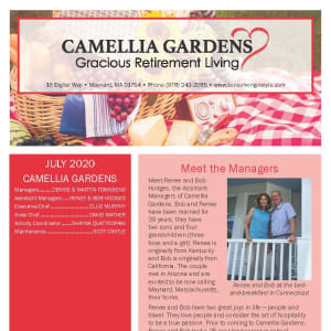 July Camellia Gardens Gracious Retirement Living Newsletter