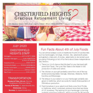 July Chesterfield Heights Newsletter