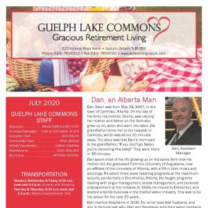 July Guelph Lake Commons Newsletter