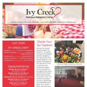 July Ivy Creek Gracious Retirement Living Newsletter