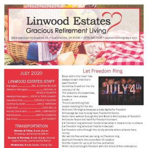 July Linwood Estates Gracious Retirement Living Newsletter