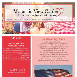 July Mountain View Gardens Newsletter