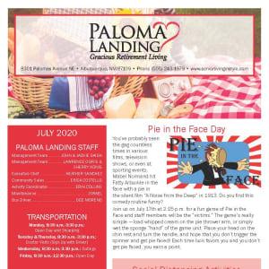 July Paloma Landing Retirement Community Newsletter