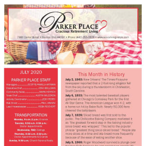 July Parker Place Newsletter