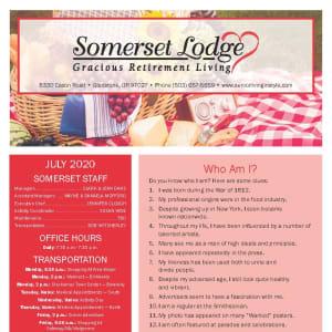 July Somerset Lodge Newsletter
