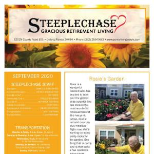 September newsletter at Steeplechase Retirement Residence in Oxford, Florida