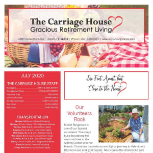 July The Carriage House Gracious Retirement Living Newsletter