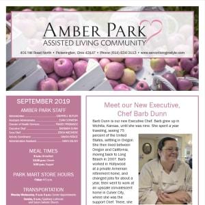 September Amber Park Newsletter