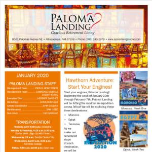 January Paloma Landing Retirement Community Newsletter