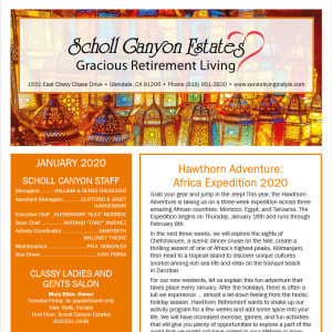 January Scholl Canyon Estates Newsletter