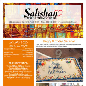 January Salishan Gracious Retirement Living Newsletter