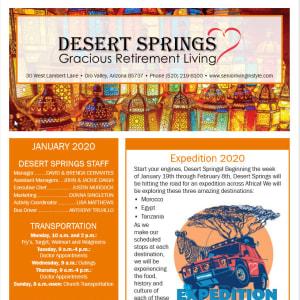January Desert Springs Gracious Retirement Living Newsletter