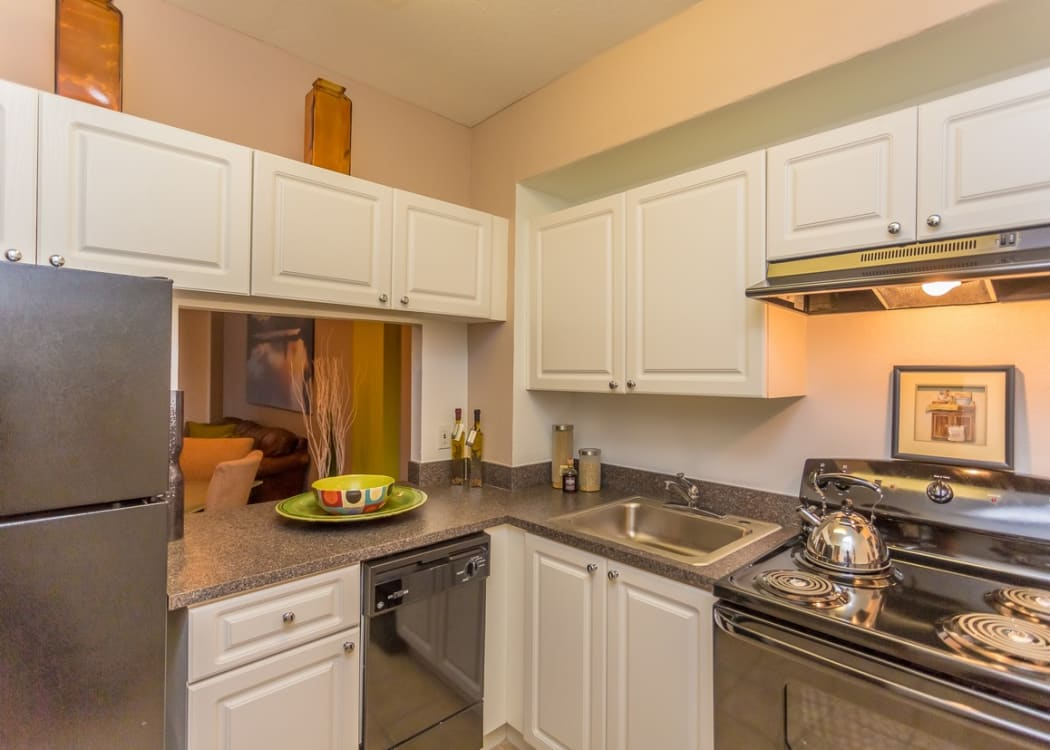 Modern kitchen in one of our Classic floor plans at Aliro Apartments in North Miami, Florida