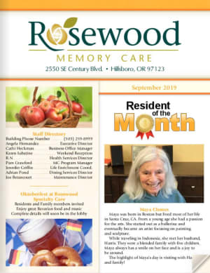 Rosewood Memory Care Newsletter