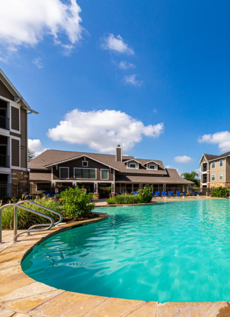 Pool area at Marquis at Katy in Katy, Texas