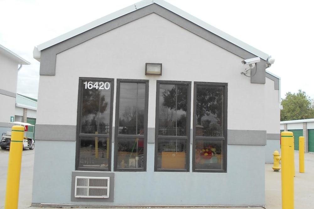Aurora self storage facility office building