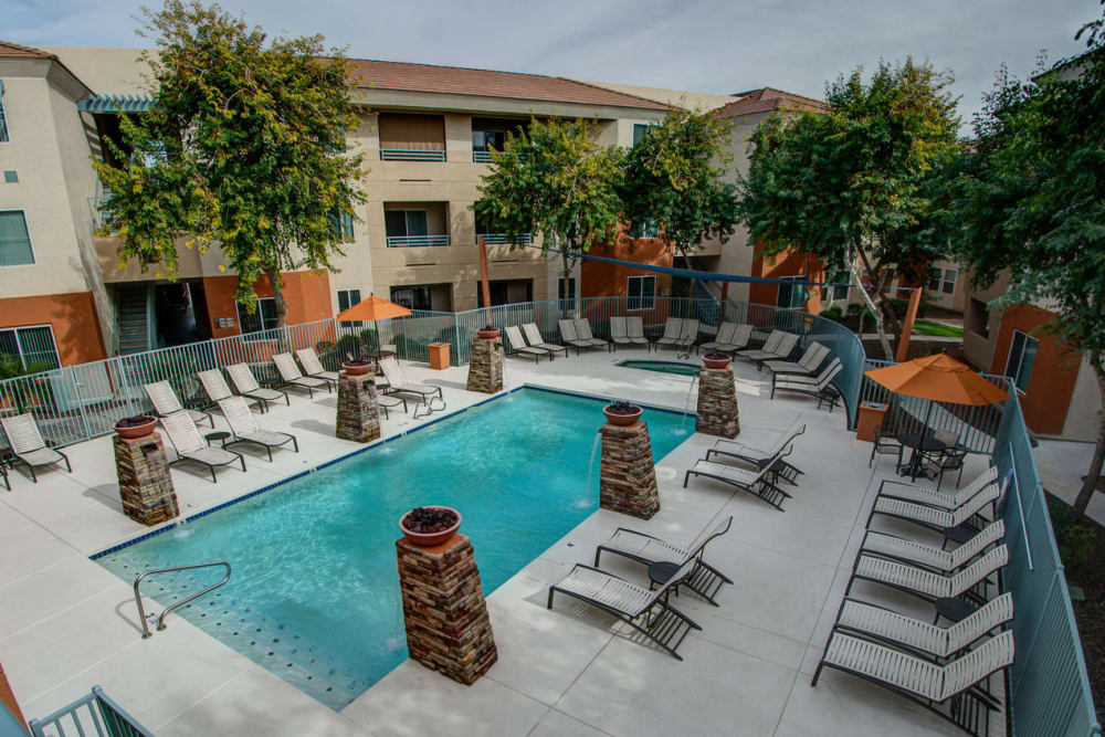 Outdoor pool at Sage Luxury Apartment Homes in Phoenix, Arizona
