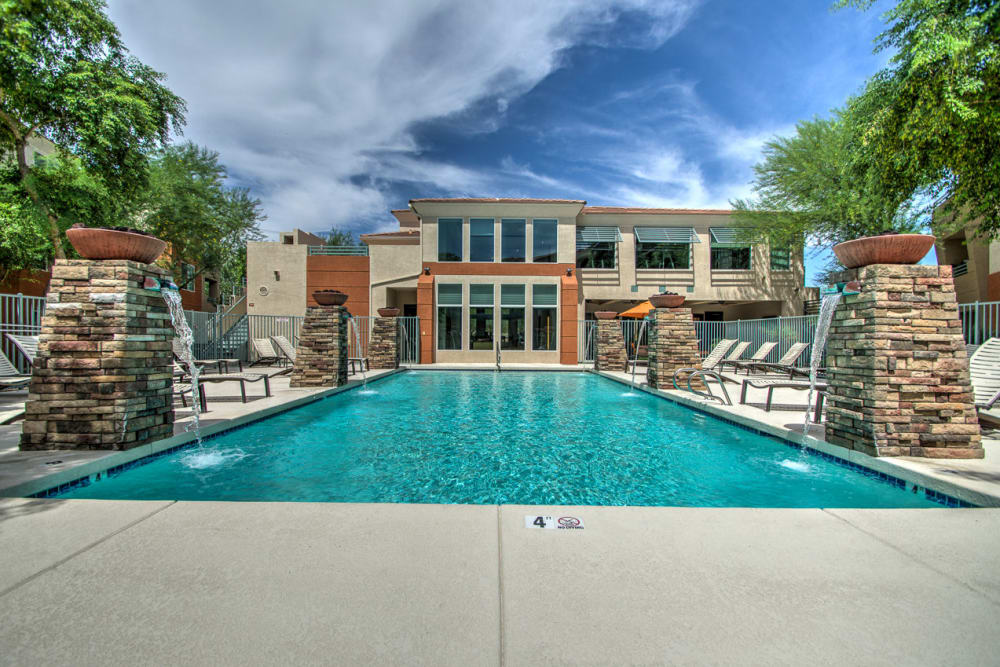 Beautiful pool at Sage Luxury Apartment Homes in Phoenix, Arizona