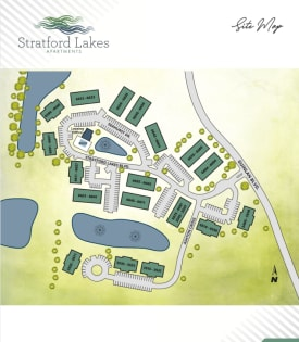 Site map at Stratford Lakes Apartments in Canal Winchester, OH.