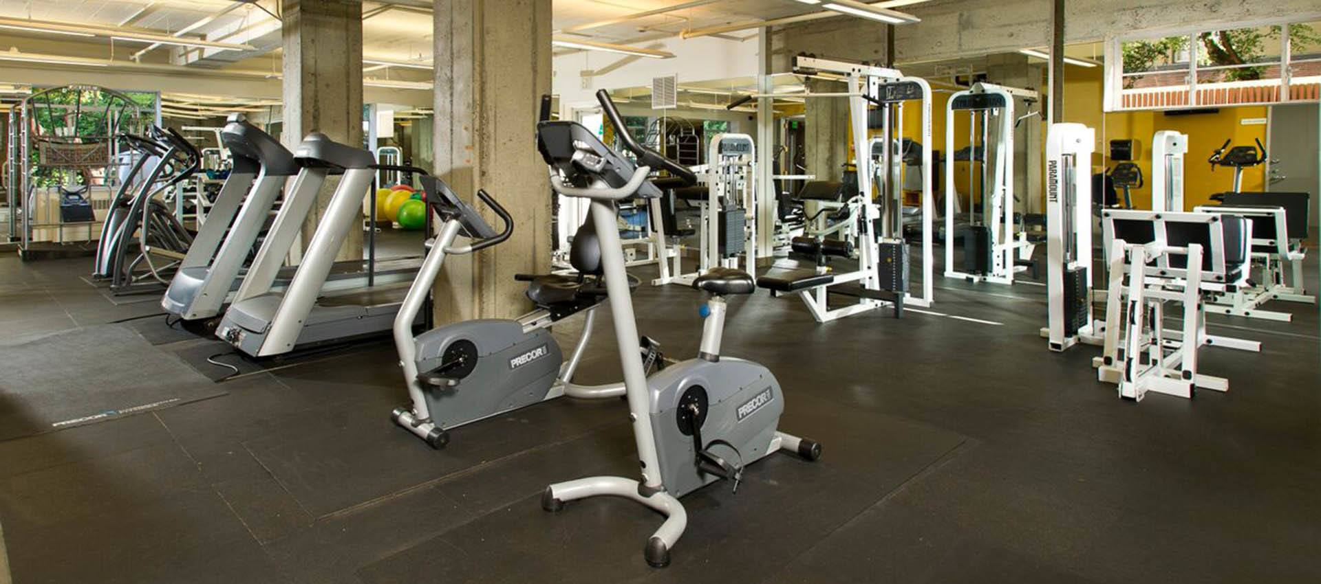 Fitness center at The Mill at First Hill in Seattle , Washington