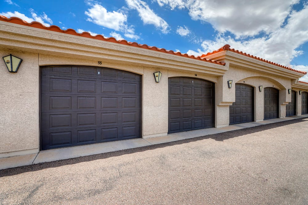 Private garages at San Palacio in Chandler, Arizona