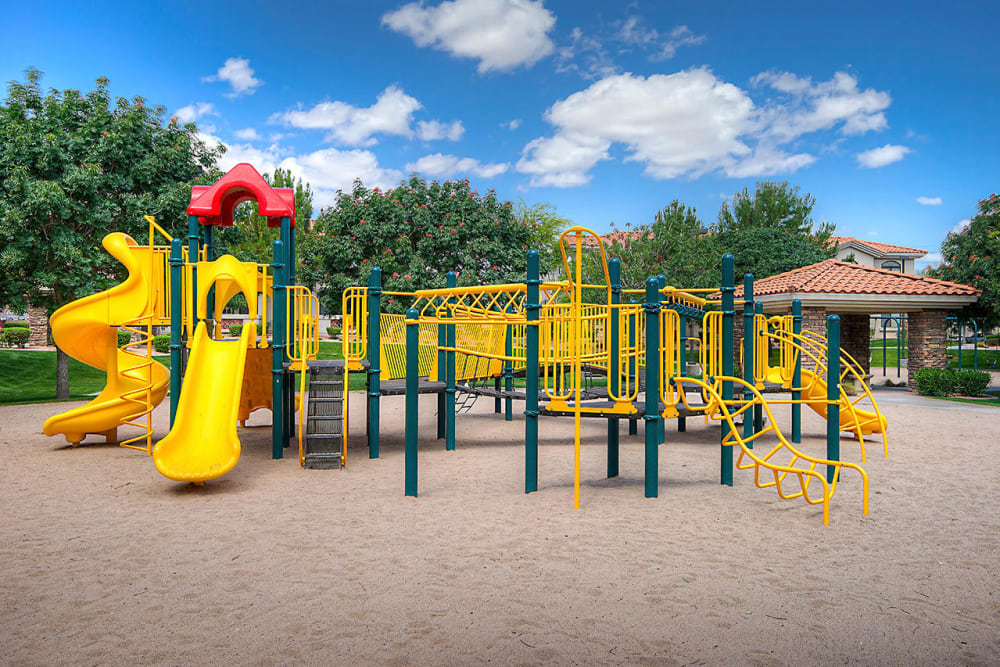 Onsite childrens' playground at San Palacio in Chandler, Arizona