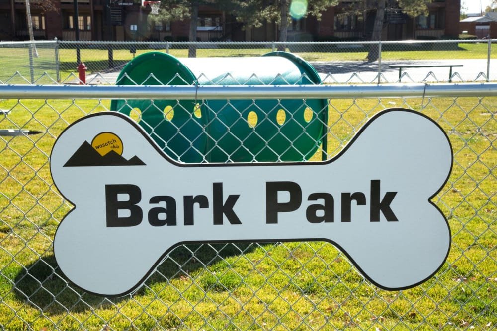 bark park at Wasatch Club Apartments