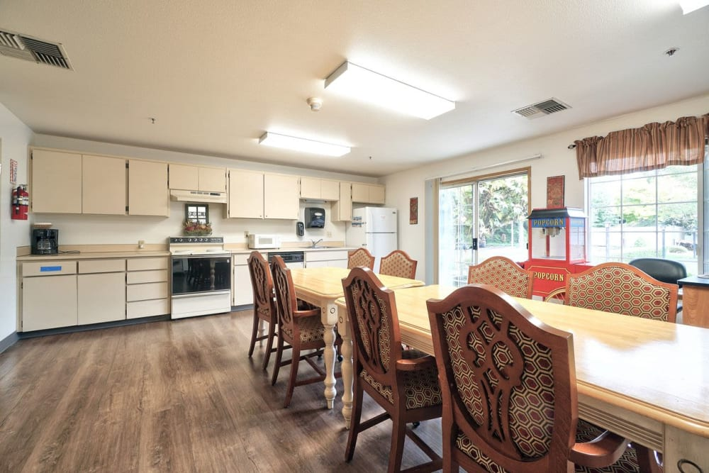 Spacious kitchen at Regency Woodland in Salem, OR anytime!