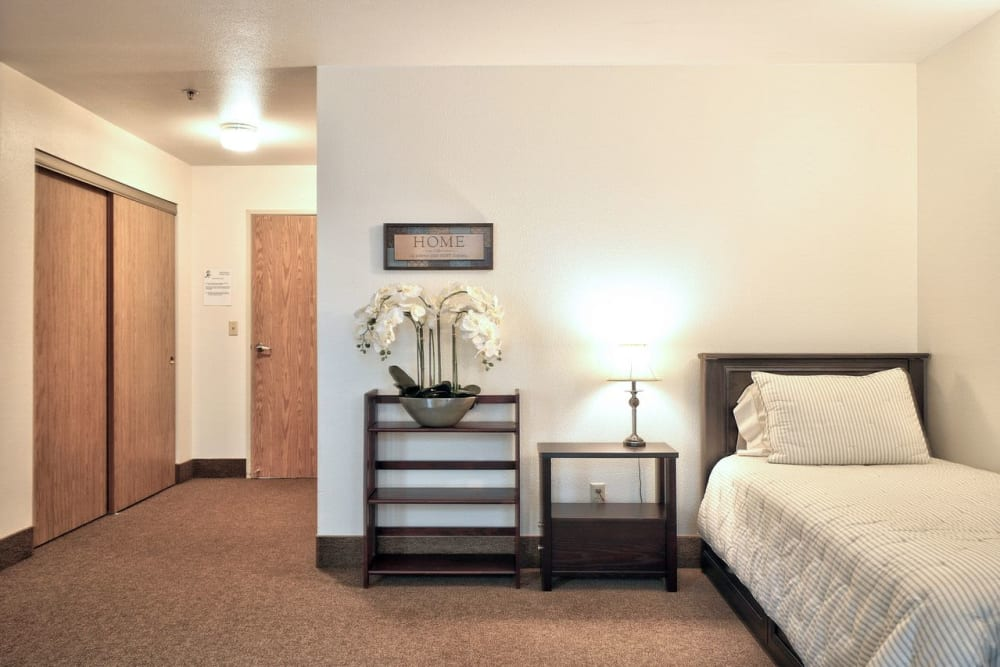 Bedroom at Regency Woodland in Salem, OR anytime!