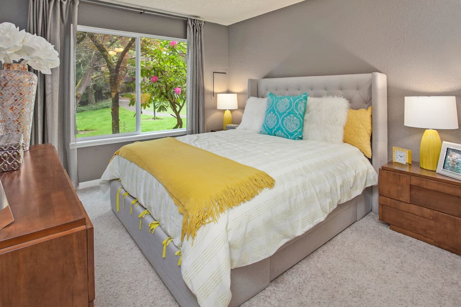 Enjoy relaxing bedrooms at The VUE in Kirkland, Washington