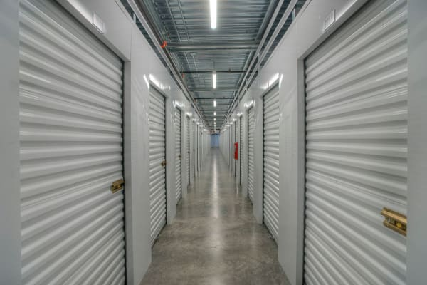 Clean and bright interior hallways at StorQuest Self Storage Scottsdale allow easy access to your belongings