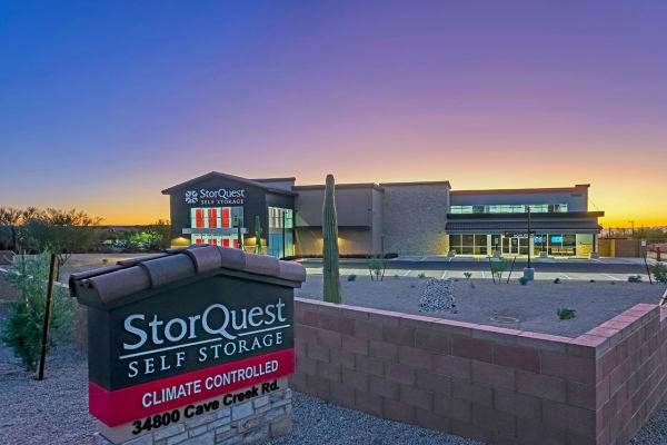 Boxes for purchase at StorQuest Self Storage in Carefree, Arizona