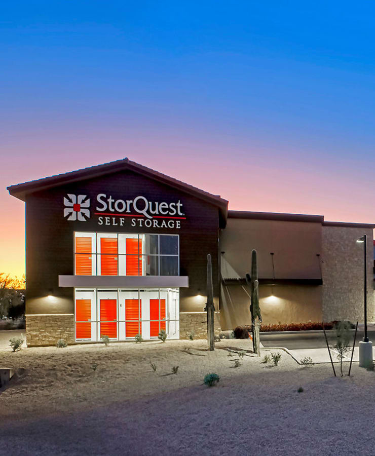 Facade and indoor units at StorQuest Self Storage in Carefree, Arizona
