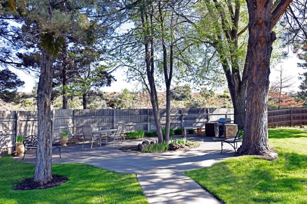 Senior living community with beautiful landscaping