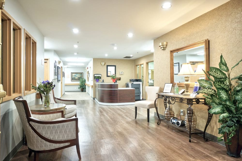 Front desk room at Regency Woodland in Salem, OR anytime!