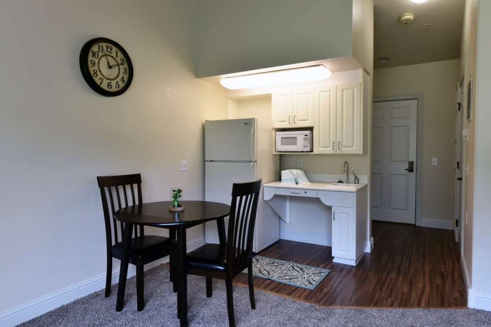 Our retirement home facility in Prineville, Oregon offer a kitchen