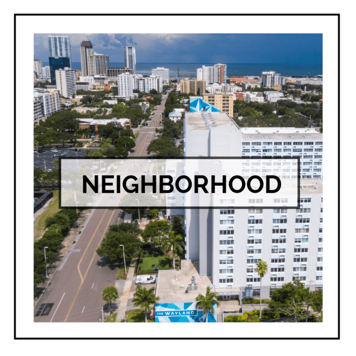 Link to neighborhood info for The Wayland in St Petersburg, Florida
