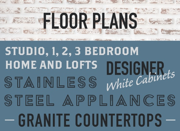 View our floor plans at Bluebird Row in Chattanooga, Tennessee