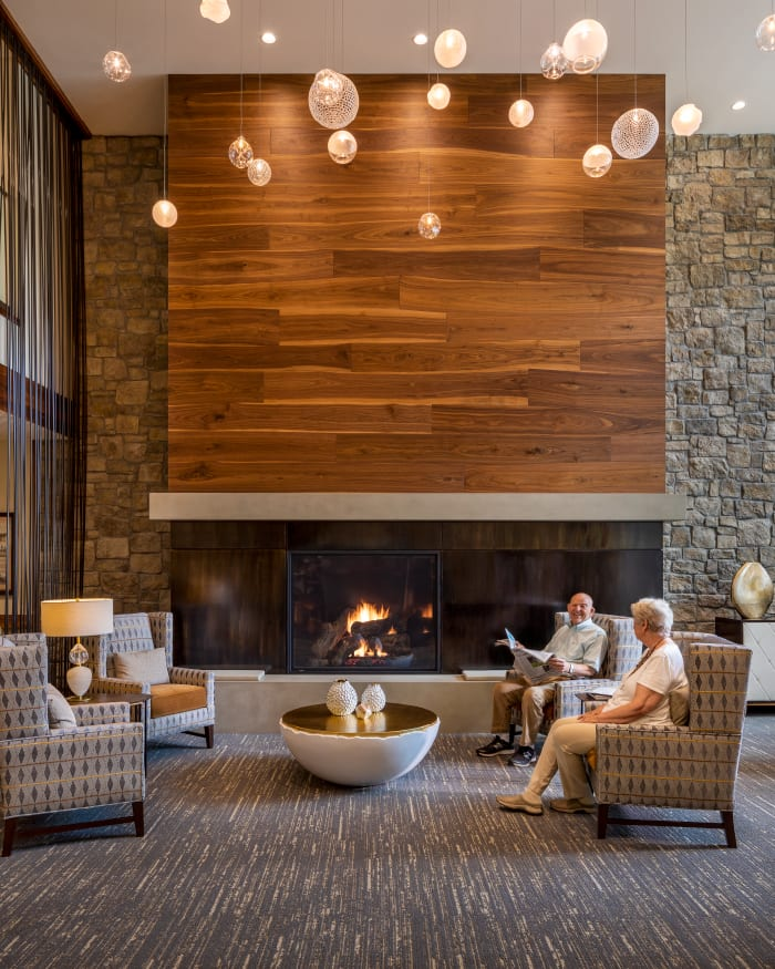 Fitness & Wellness Center Lounge at The Springs at Lake Oswego in Lake Oswego, Oregon