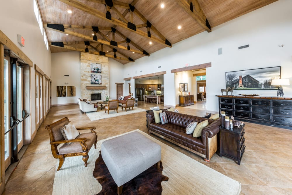 Community clubhouse at Marquis at Canyon Ridge in Austin, Texas