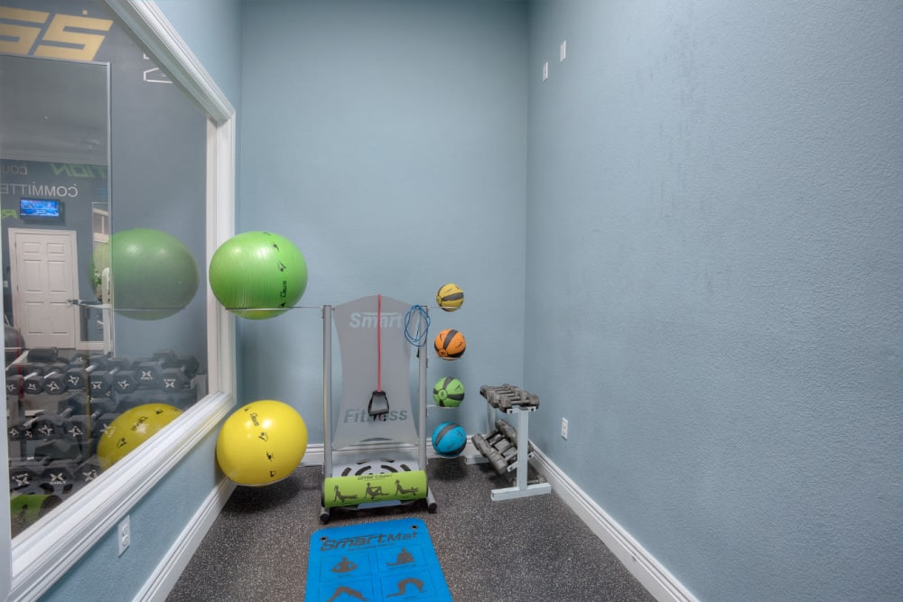 Fitness center for residents at Marquis Bandera in San Antonio, Texas