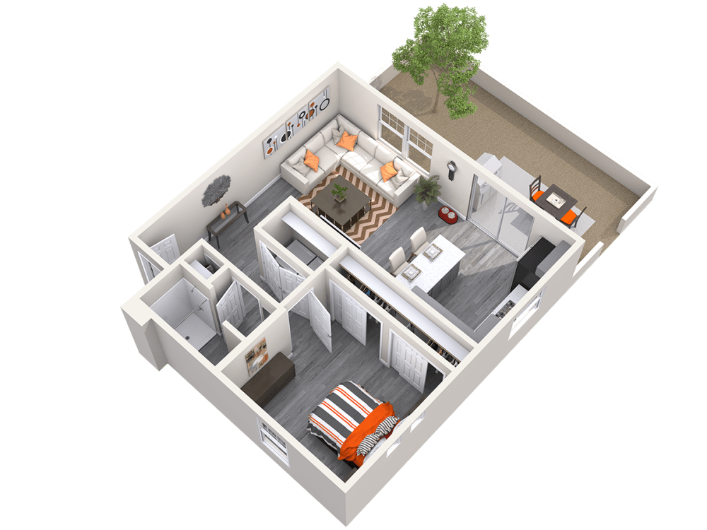 The Alcove 3D floor plan at Avilla Camelback Ranch in Phoenix, Arizona
