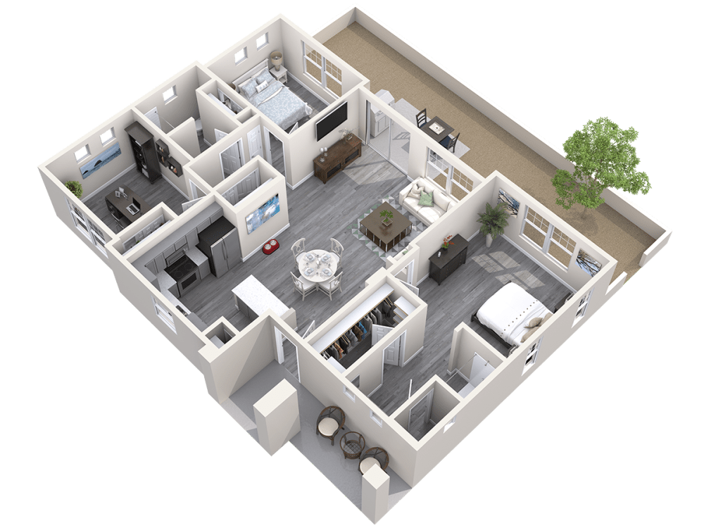 The Haven 3D Floor plan at Avilla Buffalo Run in Commerce City, Colorado