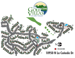 Printable site map image at The Golf Villas at Oro Valley in Tucson, Arizona
